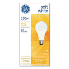 GE General Purpose A21 Incandescent SW Light Bulb, 150 W, Soft White