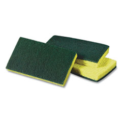 Scotch-Brite™ PROFESSIONAL Medium-Duty Scrubbing Sponge, 3.6 x 6.1, Yellow/Green