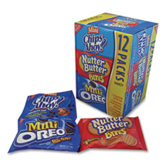 Nabisco® Mini Variety Pack Cookies, 1 oz, Mini Chips Ahoy, Mini Oreos, Nutter Butter Bites, 48/Carton