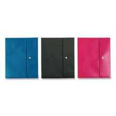 Pendaflex® Two Pocket Folders, 11 x 8.5, Black, Blue, Pink, 3/Pack