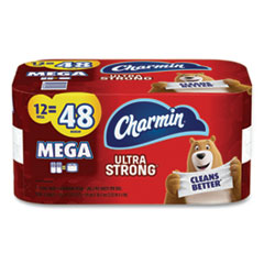 Charmin® Ultra Strong Bathroom Tissue, Septic Safe, 2-Ply, 4 x 3.92, White, 286 Sheet/Roll, 12/Pack