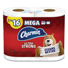 Charmin® Ultra Strong Bathroom Tissue, Septic Safe, 2-Ply, 4 x 3.92, White, 264 Sheet/Roll, 4/Pack