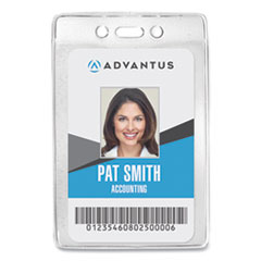 Advantus Security ID Badge Holder, Vertical, 3.13 x 4.88, Clear, 50/Box