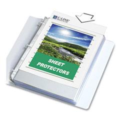 "C-Line® Sheet Protectors, Clear, Polypropylene, 2"", 11 x 8 1/2, 100/BX"