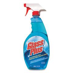 Glass Plus® Glass Cleaner, 32 oz Spray Bottle, 12/Carton