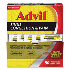 Advil® Sinus Congestion and Pain Relief, 50/Box