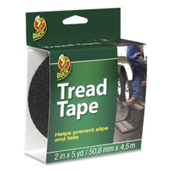 "Duck® Tread Tape, 2"" x 5 yds, 3"" Core, Black"