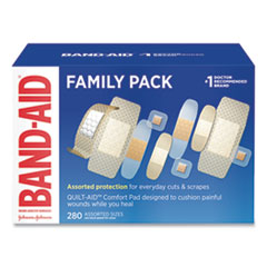 BAND-AID® Sheer/Wet Adhesive Bandages, Assorted Sizes, 280/Box