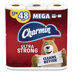 Charmin® Ultra Strong Bathroom Tissue, Septic Safe, 2-Ply, White, 264 Sheet/Roll, 12/Pack, 4 Packs/Carton