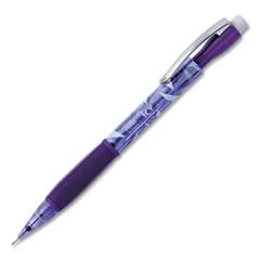 Icy Mechanical Pencil, 0.7 mm, HB (#2.5), Black Lead, Transparent Violet Barrel, Dozen