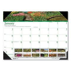 House of Doolittle™ Recycled Gardens of the World Photo Monthly Desk Pad Calendar, 22 x 17, 2021