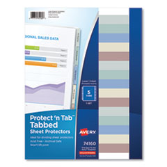 Avery® Protect 'n Tab™ Tabbed Sheet Protectors