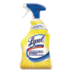 Professional LYSOL® Brand Advanced Deep Clean All Purpose Cleaner, Lemon Breeze, 32 oz Trigger Spray Bottle, 12/Carton