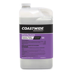 Coastwide Professional™ Disinfectant 66 Deodorizer-Virucide Concentrate for ExpressMix Systems, Unscented, 110 oz Bottle, 2/Carton