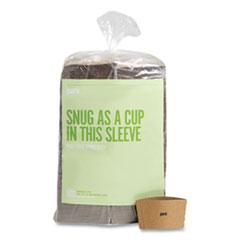 Perk™ Paper Hot Cup Sleeves, Fits 10, 12, 16 oz Cups, Brown, 500/Pack