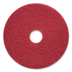 """Coastwide Professional™ Buffing Floor Pads, 17"""" Diameter, Red, 5/Carton"""