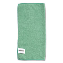 Coastwide Professional™ Microfiber Wipers, 15.75 x 15.75, Green, 12/Pack