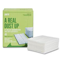 Perk™ Dry Cloth Refills, White, 8 x 10.4, 48/Pack