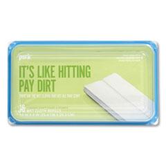 Perk™ Wet Cloth Refills, Fresh, White, 8 x 10, 16/Pack