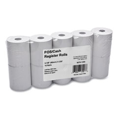 """Iconex™ Direct Thermal Printing Thermal Paper Rolls, 3.13"""" x 230 ft, White, 10/Pack"""