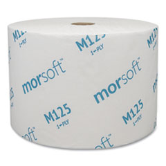 Morcon Tissue Small Core Bath Tissue, Septic Safe, 1-Ply, White, 2500 Sheets/Roll, 24 Rolls/Carton