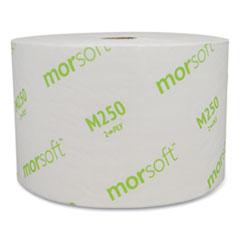 Morcon Tissue Small Core Bath Tissue, Septic Safe, 2-Ply, White, 1250/Roll, 24 Rolls/Carton