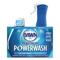 Dawn® Platinum Powerwash Dish Spray, Fresh, 16 oz Spray Bottle, 2/Pack, 3 Packs/Carton