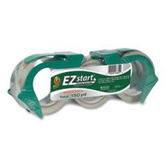 "Duck® EZ Start Premium Packaging Tape, 3"" Core, (2) 1.88"" x 60 yds, (1) 1.88"" x 30 yds, Clear, 3/Pack"