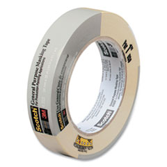 """Scotch® Commercial-Grade Masking Tape for Production Painting, 0.94"""" x 60 yds, Natural, 1/Roll"""