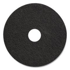 "Coastwide Professional™ Stripping Floor Pads, 17"" Diameter, Black, 5/Carton"