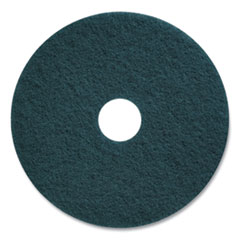 "Coastwide Professional™ Cleaning Floor Pads, 17"" Diameter, Blue, 5/Carton"