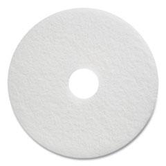 "Coastwide Professional™ Polishing Floor Pads, 17"" Diameter, White, 5/Carton"