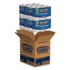 Quilted Northern® Ultra Soft and Strong Bathroom Tissue, Septic Safe, 2-Ply, 164 Sheets/Roll, 48 Rolls/Carton