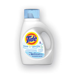 Tide® Free and Gentle Laundry Detergent, 32 Loads, 46 oz Bottle, 6/Carton
