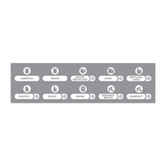 Rubbermaid® Commercial Recycle Label Kit for Slim Jim Recycling Station Billboard, 10 Assorted Messages, 5.59 x 9.55, White/Clear