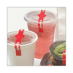 "National Checking Company™ SecureIT Tamper Evident Drink Lid Seal, ""Secure It"", 1 x 7, Red, 250/Roll, 2 Rolls/Pack"
