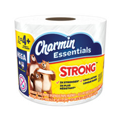 Charmin® Essentials Strong Bathroom Tissue, Septic Safe, 1-Ply, White, 4 x 3.92, 451/Roll, 36 Individually Wrapped Rolls/Carton