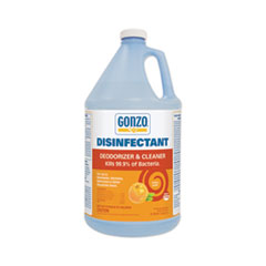 Gonzo® Disinfectant Deodorizer and Cleaner, Citrus Scent, 1 gal Bottle, 4/Carton