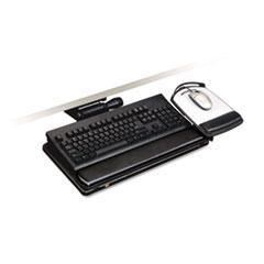 """3M™ Easy Adjust Keyboard Tray, Highly Adjustable Platform, 23"""" Track, Black"""