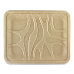 World Centric® Fiber Trays, PLA Lined, PFAS Free, 9.1 x 7.1 x 0.7, Natural, 500/Carton