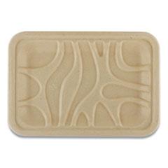 World Centric® Fiber Trays, PLA Lined, PFAS Free, 8.2 x 5.7 x 0.7, Natural, 500/Carton