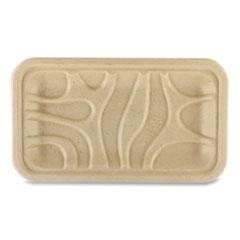 World Centric® Fiber Trays, 8.3 x 4.9 x 0.7, Natural, 500/Carton