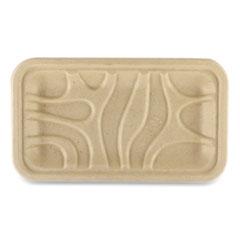 World Centric® Fiber Trays, PLA Lined, PFAS Free, 8.3 x 4.9 x 0.7, Natural, 500/Carton