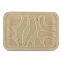 World Centric® Fiber Trays, 8.2 x 5.7 x 0.7, Natural, 500/Carton