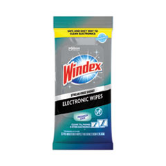 Windex® Electronics Cleaner, 25 Wipes, 12 Packs Per Carton