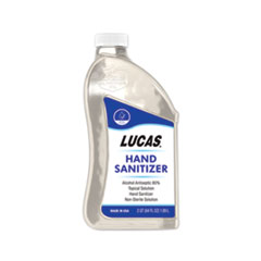 Lucas Oil Hand Sanitizer, 0.5 gal Bottle, Unscented, 6/Carton