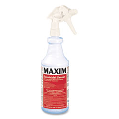 Maxim® Germicidal Cleaner, Lemon Scent, 32 oz Bottle, 12 Bottles and 1 Trigger Sprayer/Carton