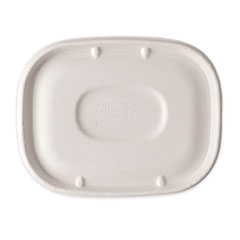 World Centric® Fiber Lids for Fiber Containers, 8.9 x 6.9 x 0.4, Natural, 400/Carton