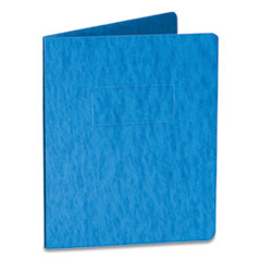 """Oxford™ Two-Prong Pressboard Report Covers, Two-Prong Fastener, 3"""" Capacity, 8.5 x 11, Blue/Blue, 5/Pack"""