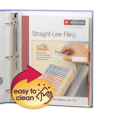 Smead® Poly Ring Binder Pockets, 9 x 11.5, Clear, 3/Pack